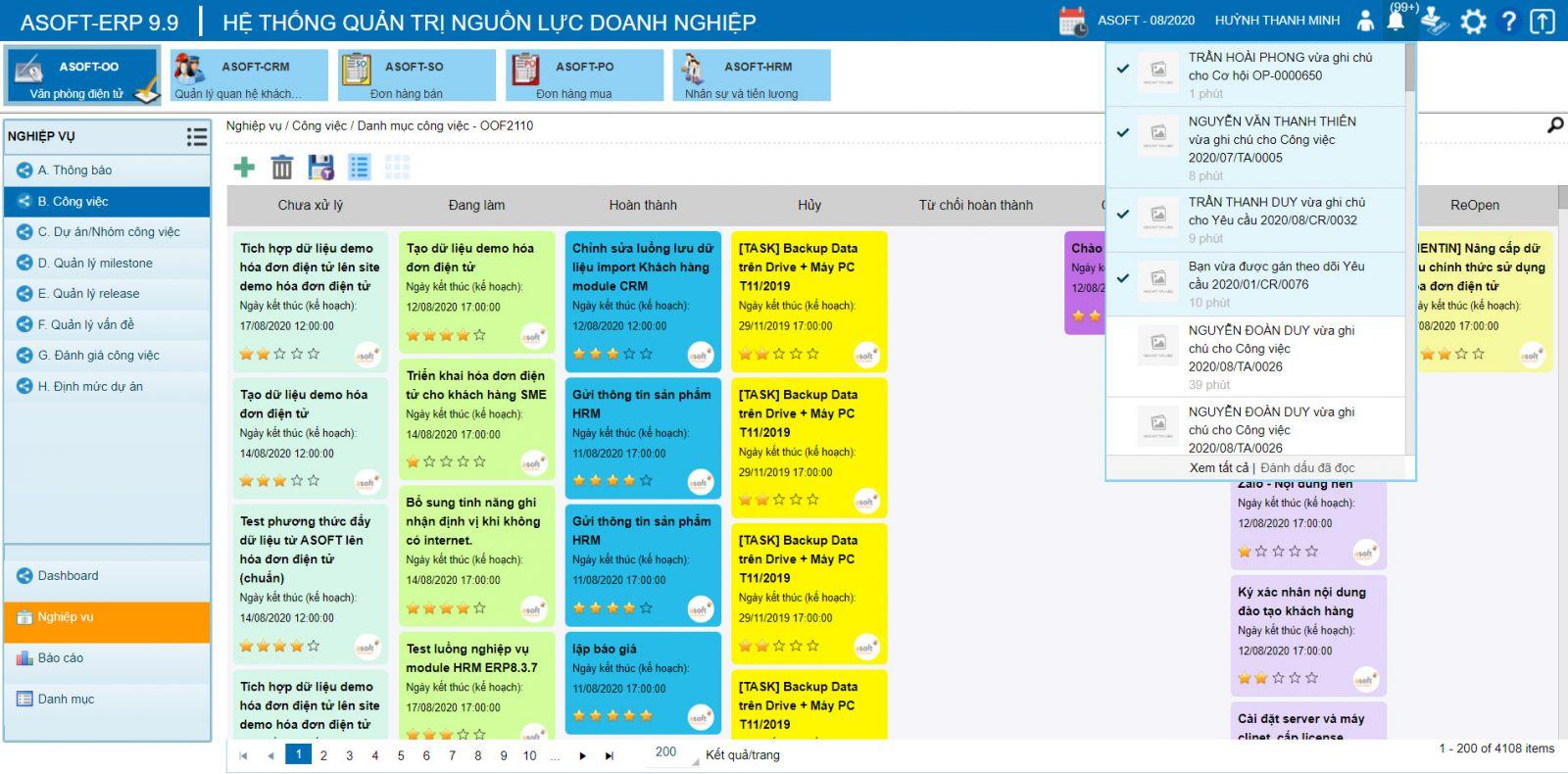 Sử dụng phần mềm quản lý quy trình giúp nhà quản lý dễ dàng theo dõi hoạt động của toàn doanh nghiệp