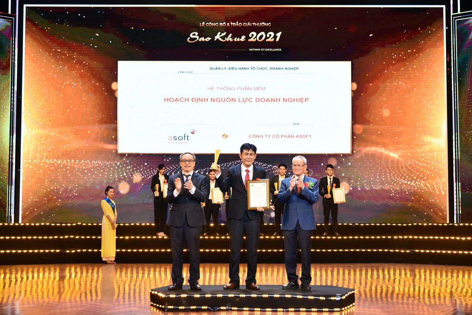 ASOFT-ERP và những thành tựu mang ASOFT đến với giải thưởng Sao Khuê 2021