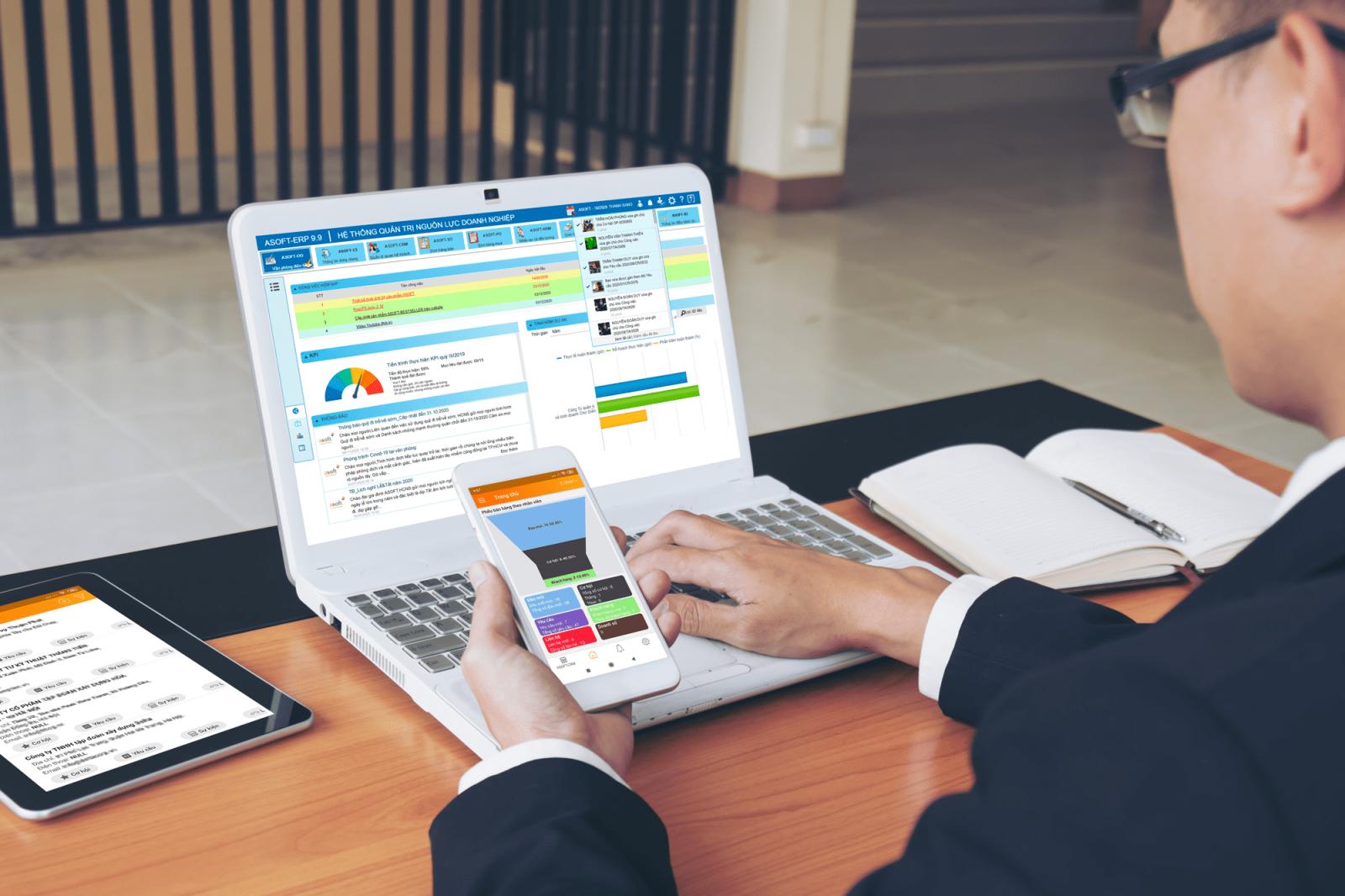 Cảm giác lướt newsfeed của các CEO trên phần mềm ASOFT-ERP 9 R9